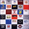30 Squares - Full Bedspread T-Shirt Quilt